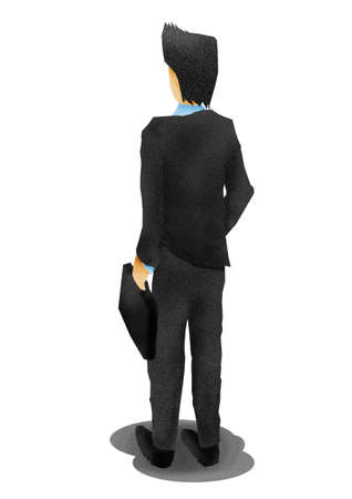 business man from the back,illustration illustration