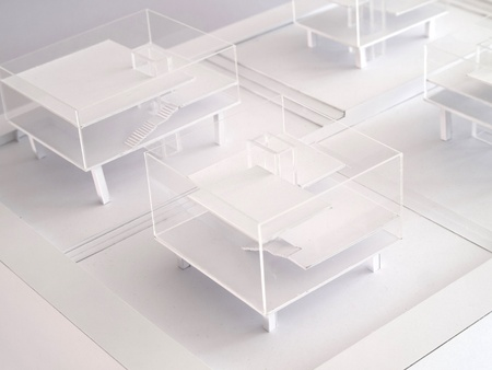 architectural study model Stock Photo