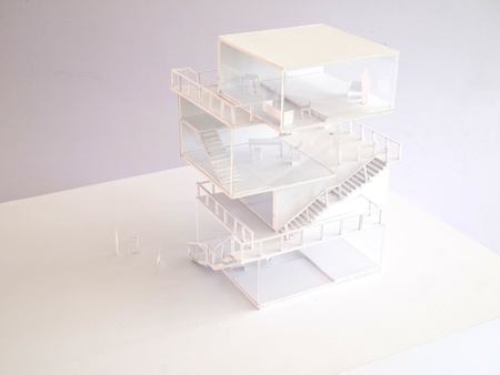 modular home: arcitectural housing model,japanese style Stock Photo