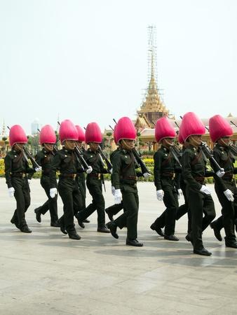 bejaratana: BANGKOK , MARCH 25  Soldiers prepare for the royal of cremation ceremony of HRH Princess Bejaratana Rajasuda in sanam luang on March 25,2012 in Bangkok, Thailand