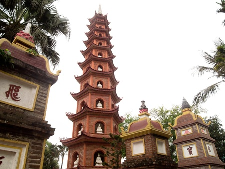 tran: Tran Quoc Pagoda in Hanoi, Vietnam