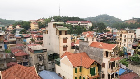 Vietnam Halong city panorama Day  photo
