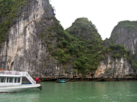 Tourist Boat in Halong Bay, Vietnam. photo