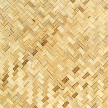 Native Thai style bamboo wall, natural wickerwork