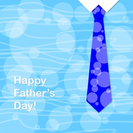 Blue tie and the sentence happy fathers day, a fathers day greeting card  photo