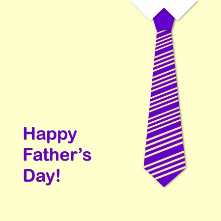 Tie and the sentence happy fathers day, a fathers day greeting card  photo