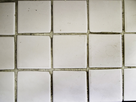 White square tiles texture, pattern design photo