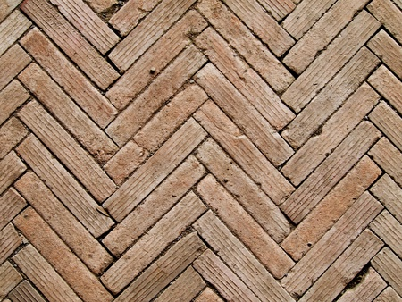 Contemporary herringbone pattern brickwall detail photo