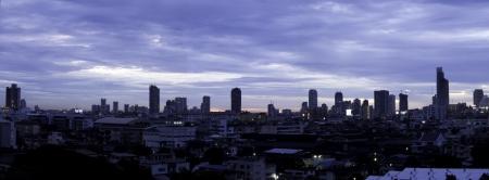 technoligy: Panorama of Bangkok city downtown at night, Bangkok,Thailand