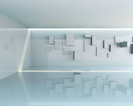 Rendering of Abstract Architecture Interior  photo