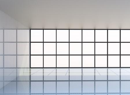 Leeren weißen Raum, 3D-Rendering Standard-Bild - 15058386