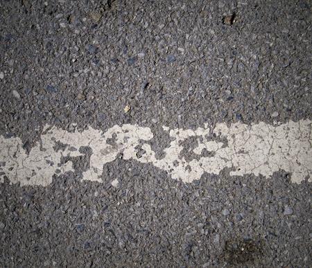 Grungy, asphalt road texture with white stripe Stock Photo - 15152046