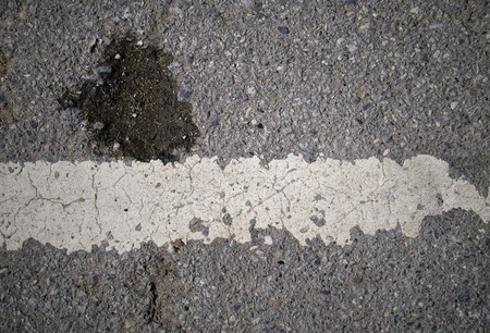 grungy, Asphalt road texture with white stripe Stock Photo - 15494768