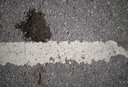 grungy, Asphalt road texture with white stripe Stock Photo - 15494768