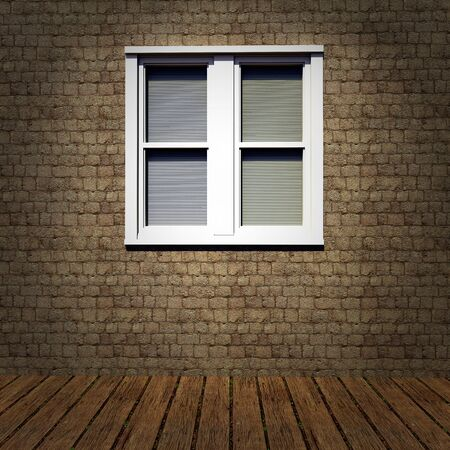 grunge interior with vintage window Stock Photo - 15390374