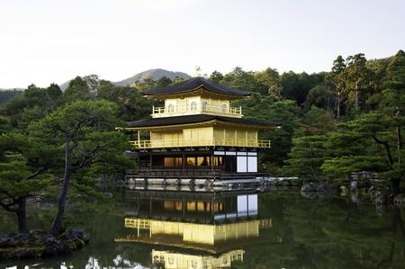 pavillion: Kinkakuji Temple, Golden Pavillion in Kyoto, Japan