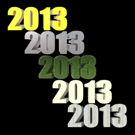 2013 New Year sign on black background photo