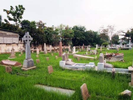 Protestant Cemetery Bangkok is located in the southern stretch of old Charoen Krung Road and preserves the memory of some of the early foreign pioneers who lived, worked and died in Bangkok.        photo