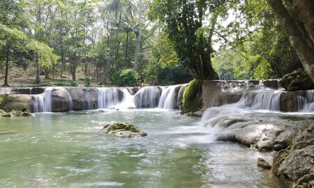 Waterfall named  Jed Sao Noi waterfall , Saraburi Province, Thailand  Stock Photo - 17184152