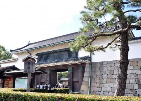 nijo: Tourist visiting Nijo Castle in Kyoto, Japan
