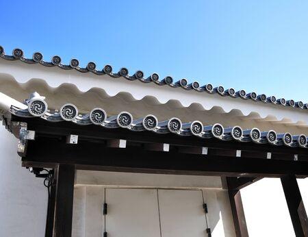 nijo: Ancient japanese architecture at Nijo castle, Kyoto, Japan  Editorial