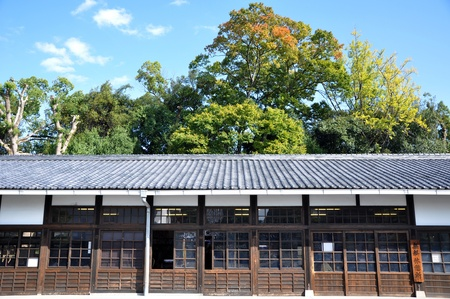 nijo: Ancient japanese architecture at Nijo castle, Kyoto, Japan  Editorial