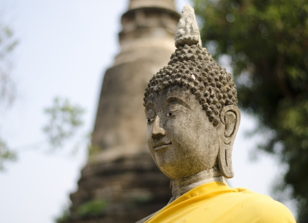 Beautiful Face of Buddha at Watyaichaimongkol Ayutthaya Province,Thailand  Stock Photo - 19060371