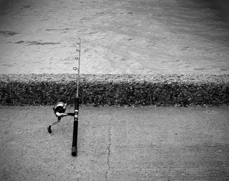 Fishing  rod and reel for saltwater fishing. Stock Photo - 19723009