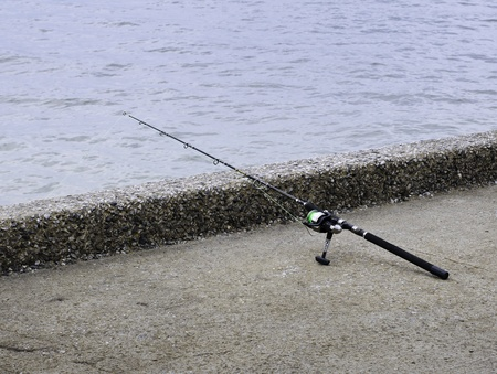 Fishing rod and reel for saltwater fishing.  Stock Photo - 19723008