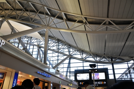 OSAKA, JAPAN - OCT 24: Kansai International Airport opened 4 September 1994 to relieve overcrowding at Osaka International Airport, which is closer to the city of Osaka and now handles only domestic flights, taken on 2012 october 24
