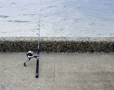 Fishing  rod and reel for saltwater fishing. Stock Photo - 19895876