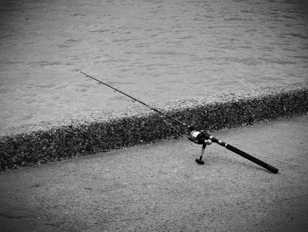 Fishing rod and reel for saltwater fishing. Stock Photo - 19895862