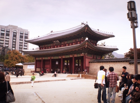 SEOUL-SOUTH KOREA- OCTOBER 24 :Tourist visit at Changdeokgung palace, It is one of the Five Grand Palaces built by the kings of the Joseon Dynasty (1392-1897) on October 24,2010 in Seoul, South Korea
