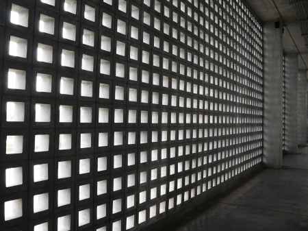 Concrete Block Wall Pattern photo