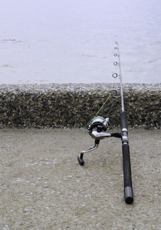 Handle rod and reel for saltwater fishing Stock Photo - 20732827
