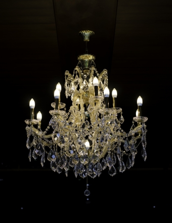 chandeliers: beautiful crystal chandelier in a room