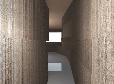 Abstract architecture background, futuristic interior Stock Photo - 21816406
