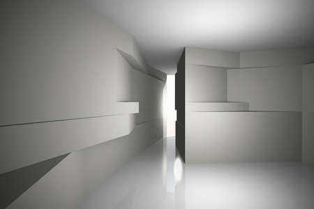 Abstract architecture background, futuristic inter  Stock Photo - 21816427