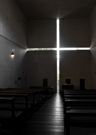 Church of the light  sometimes called  Church with Light   is the Ibaraki Kasugaoka Church 新聞圖片