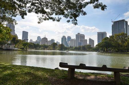 lumpini: Lumpini Park, beautiful central park in Bangkok, Thailand
