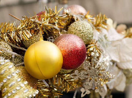 Close up of Beautiful Christmas decoration  photo