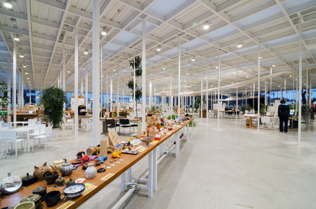 institute of technology:  Interior of Modern Workshop in Kanagawa Institute of Technology