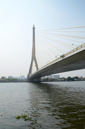 Rama 8 Bridge in Bangkok,Thailand   photo