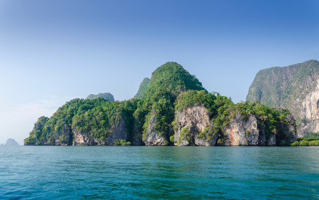 Idyllic island of Phang Nga National Park in Thailand  photo