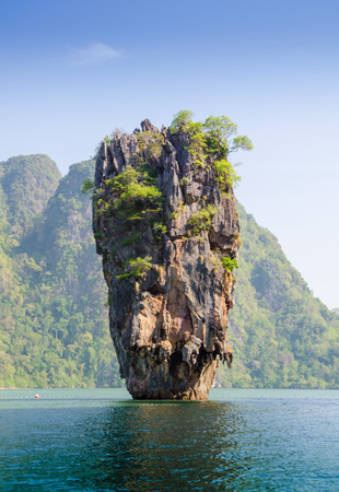 geology rock formation Island in Phuket, Thailand  photo