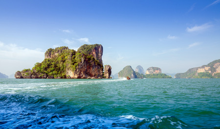 Amazing scenery of National Park in Phang Nga Bay, Thailand  photo
