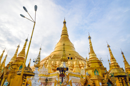 Shwedagon Paya in Yangon ,Myanmar  photo