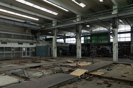 Abandoned metallurgical factory waiting for a demolition  photo