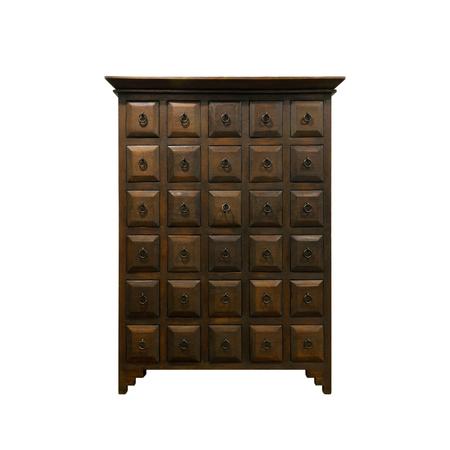 Old fashioned chinese cabinet isolated on white background photo