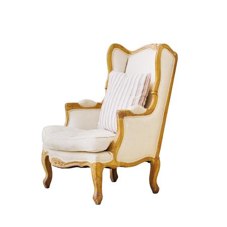 Vintage luxury armchair isolated on white  photo